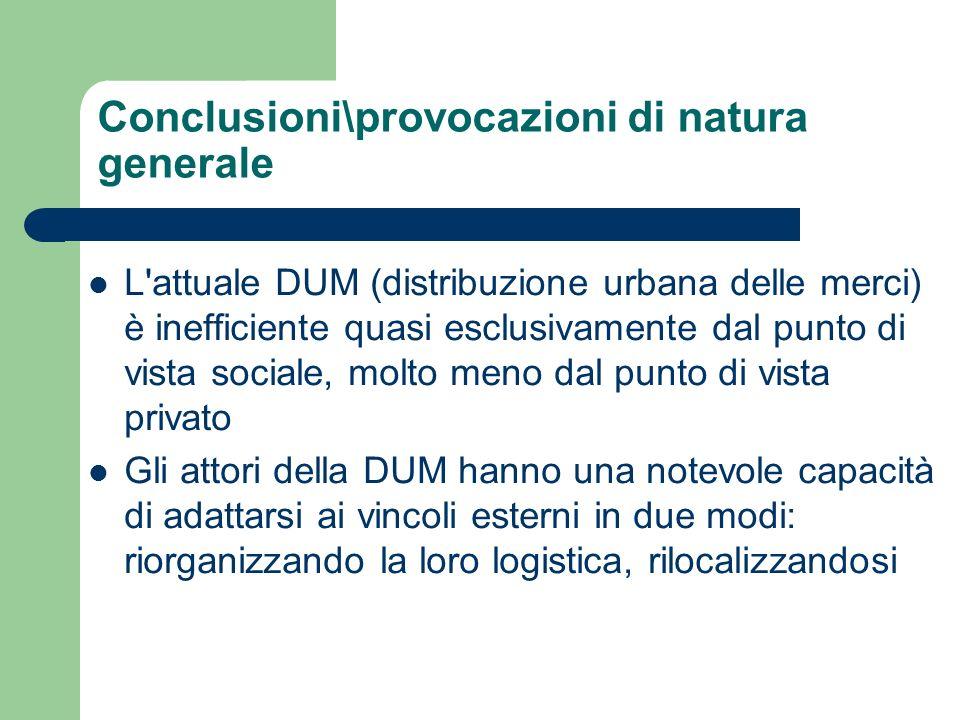 Conclusioni\provocazioni di natura generale