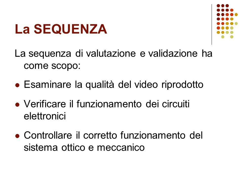 La SEQUENZA La sequenza di valutazione e validazione ha come scopo: