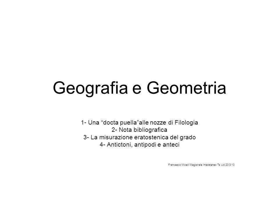 Geografia e Geometria 1- Una docta puella alle nozze di Filologia