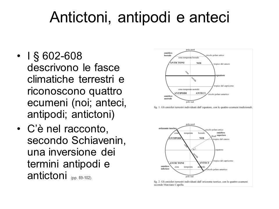 Antictoni, antipodi e anteci