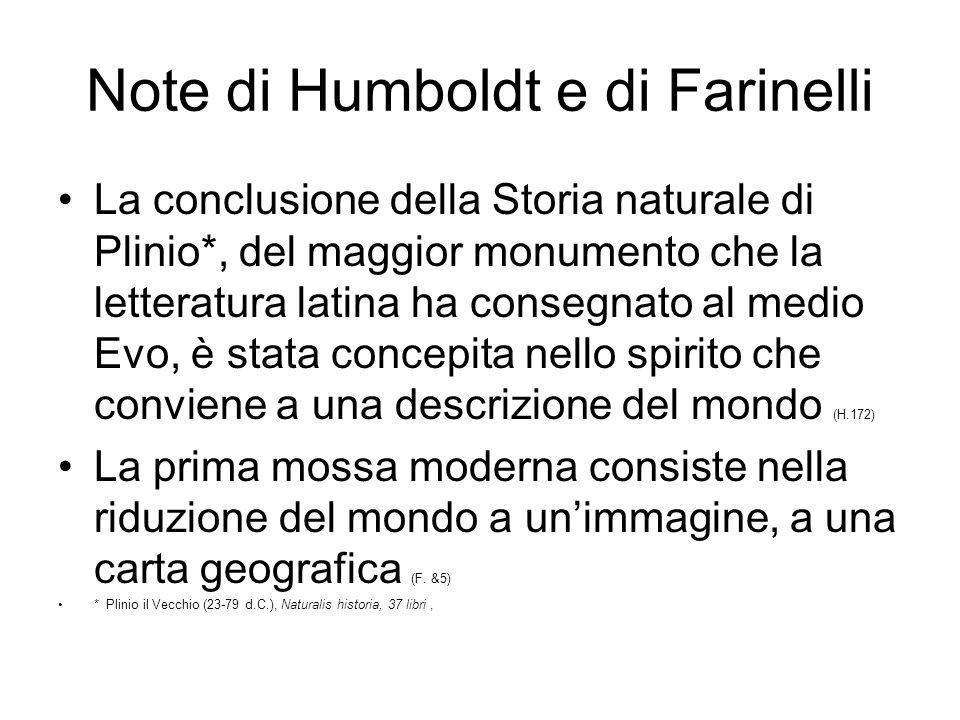 Note di Humboldt e di Farinelli