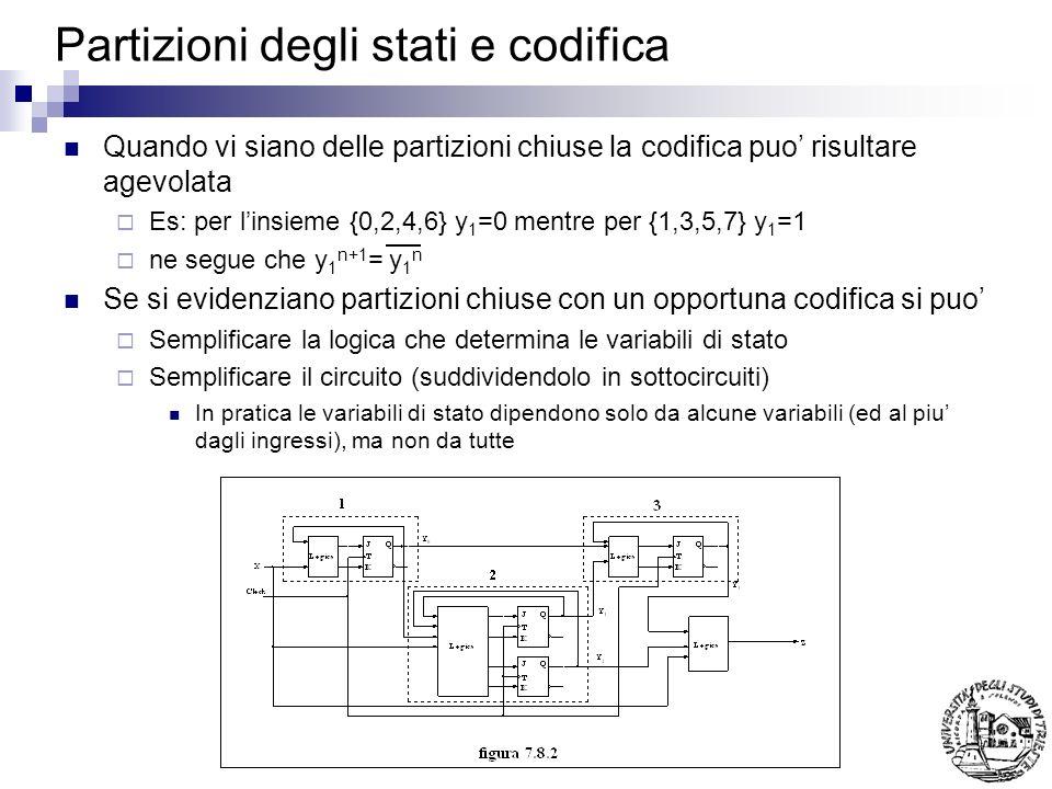 Partizioni degli stati e codifica