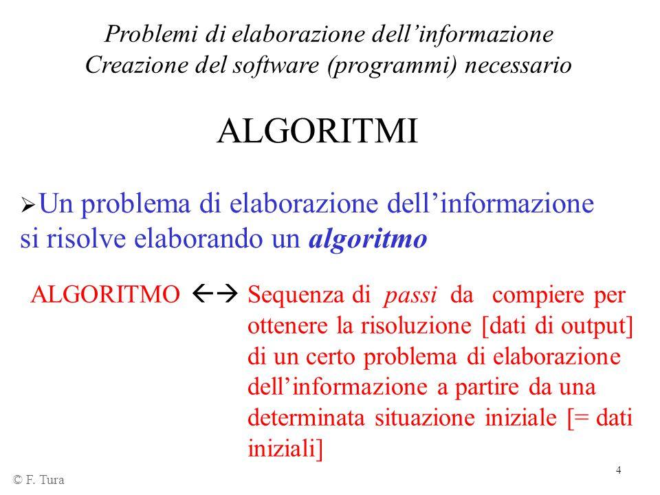 Problemi di elaborazione dell'informazione