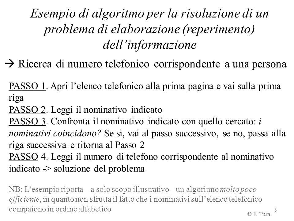 problema di elaborazione (reperimento) dell'informazione