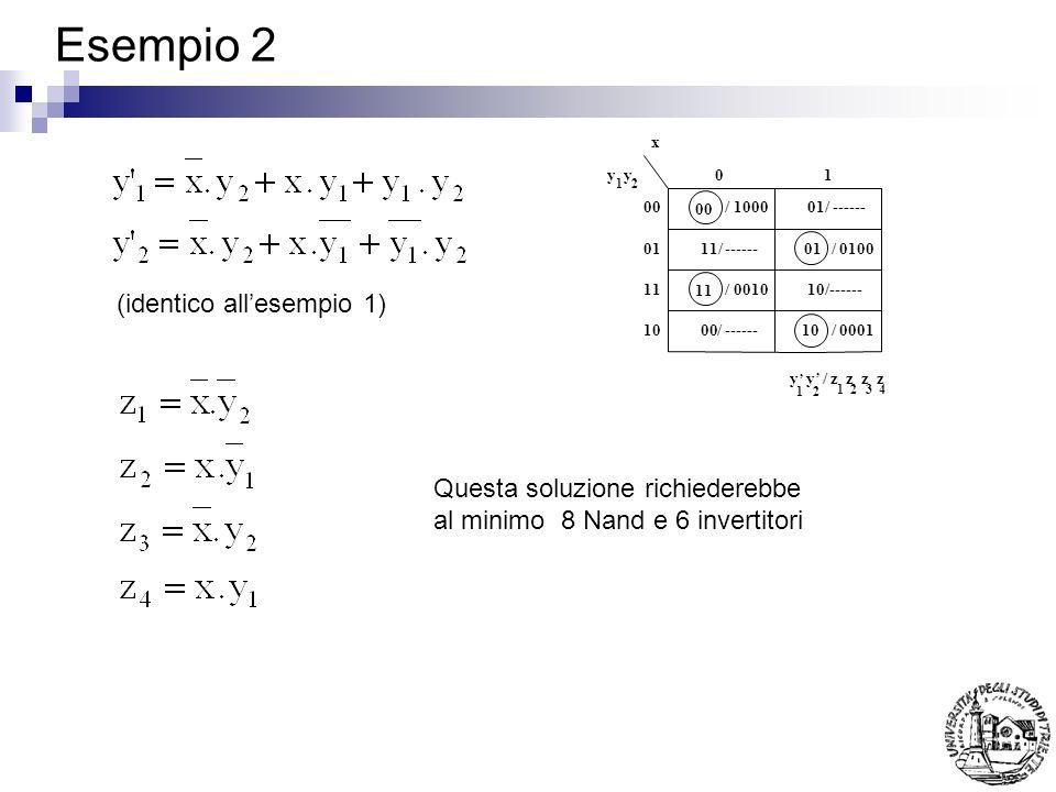 Esempio 2 (identico all'esempio 1) Questa soluzione richiederebbe