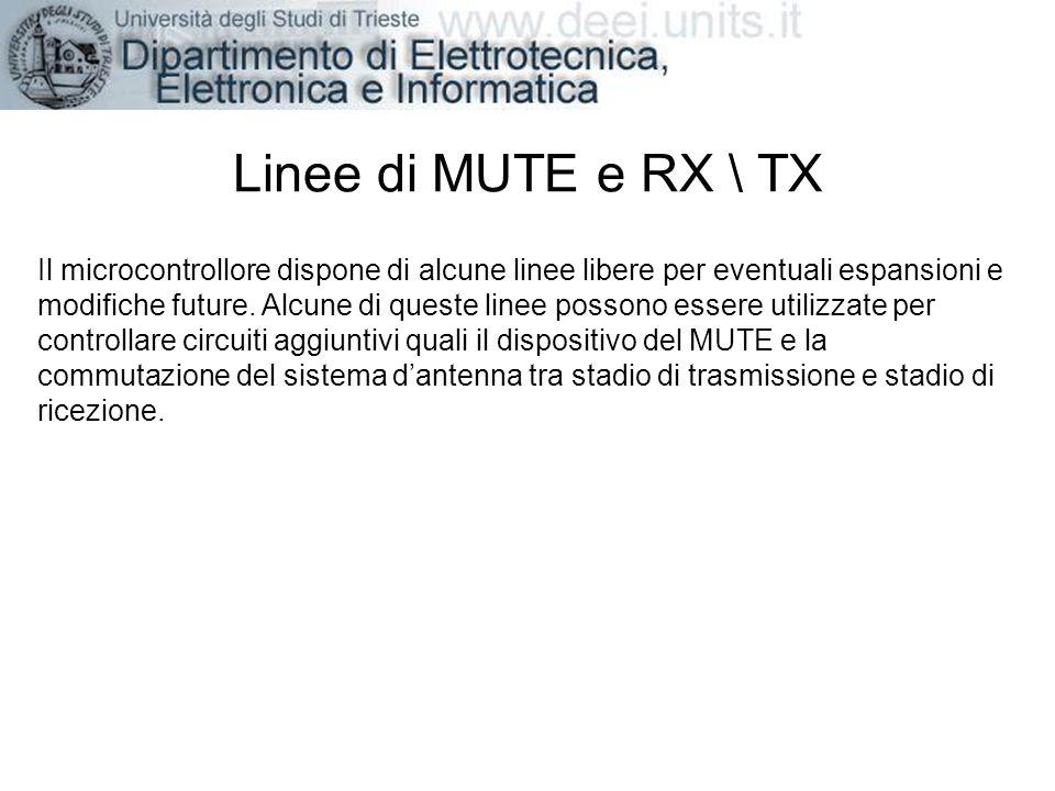 Linee di MUTE e RX \ TX