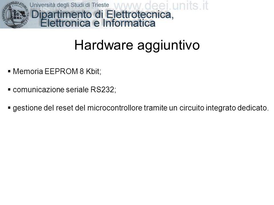 Hardware aggiuntivo Memoria EEPROM 8 Kbit;