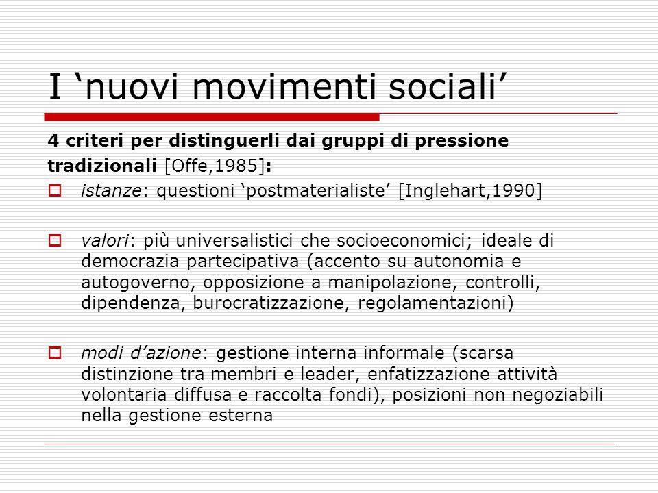 I 'nuovi movimenti sociali'