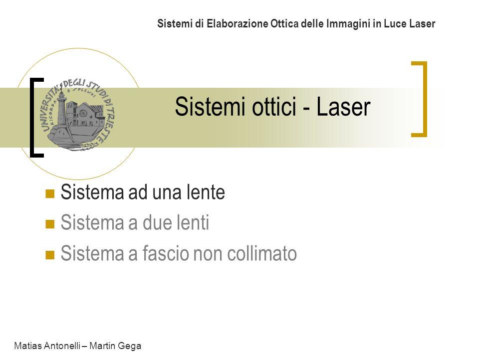Sistemi di Elaborazione Ottica delle Immagini in Luce Laser