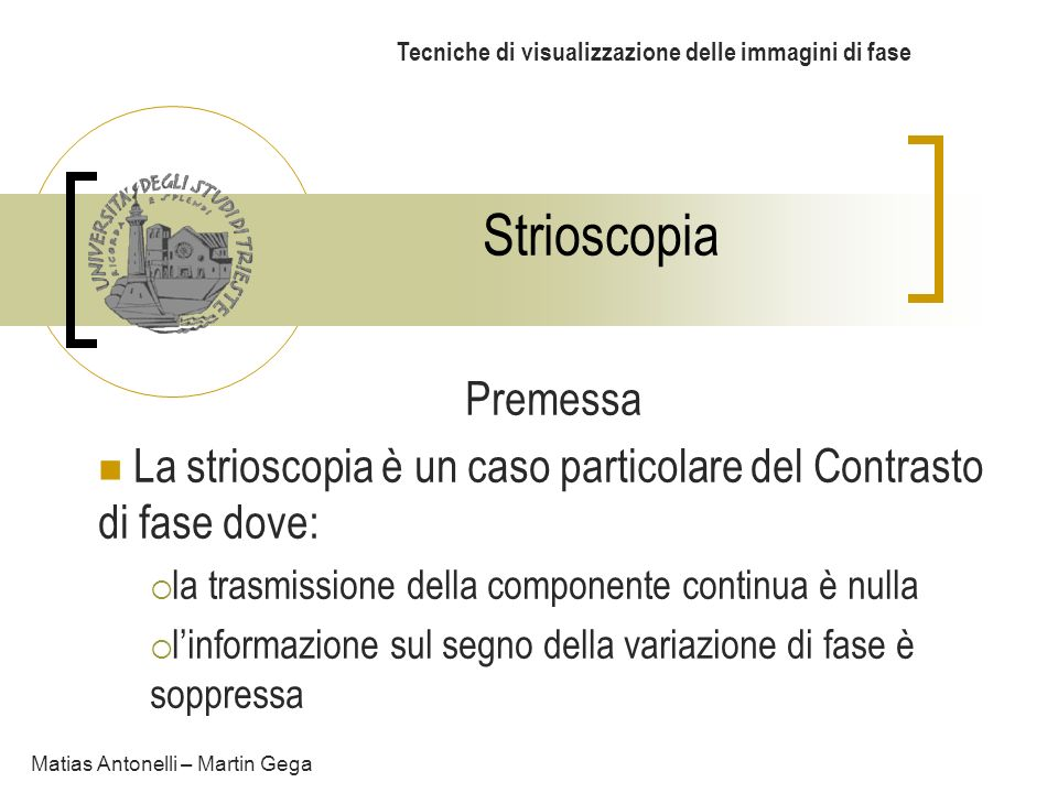 Tecniche di visualizzazione delle immagini di fase