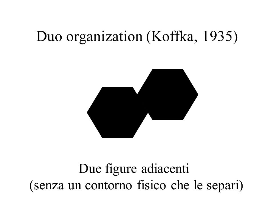 Duo organization (Koffka, 1935)