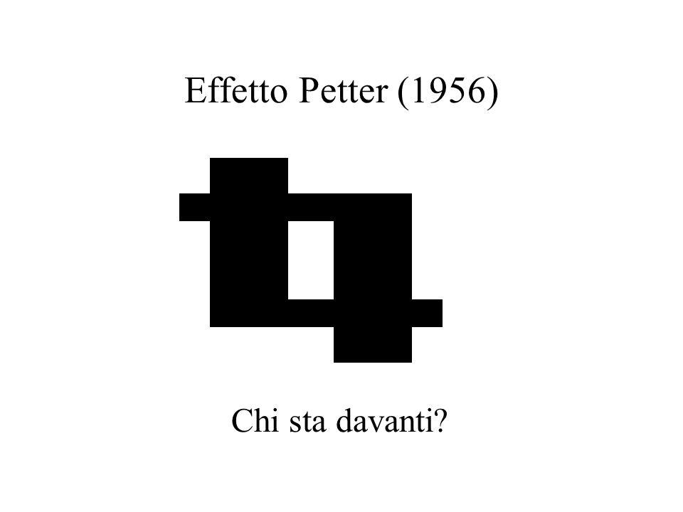 Effetto Petter (1956) Chi sta davanti