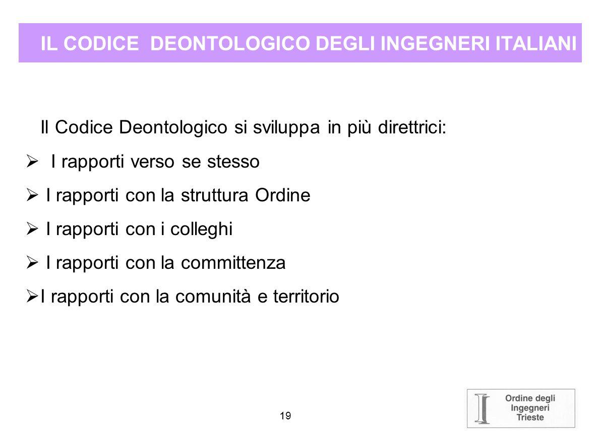 IL CODICE DEONTOLOGICO DEGLI INGEGNERI ITALIANI
