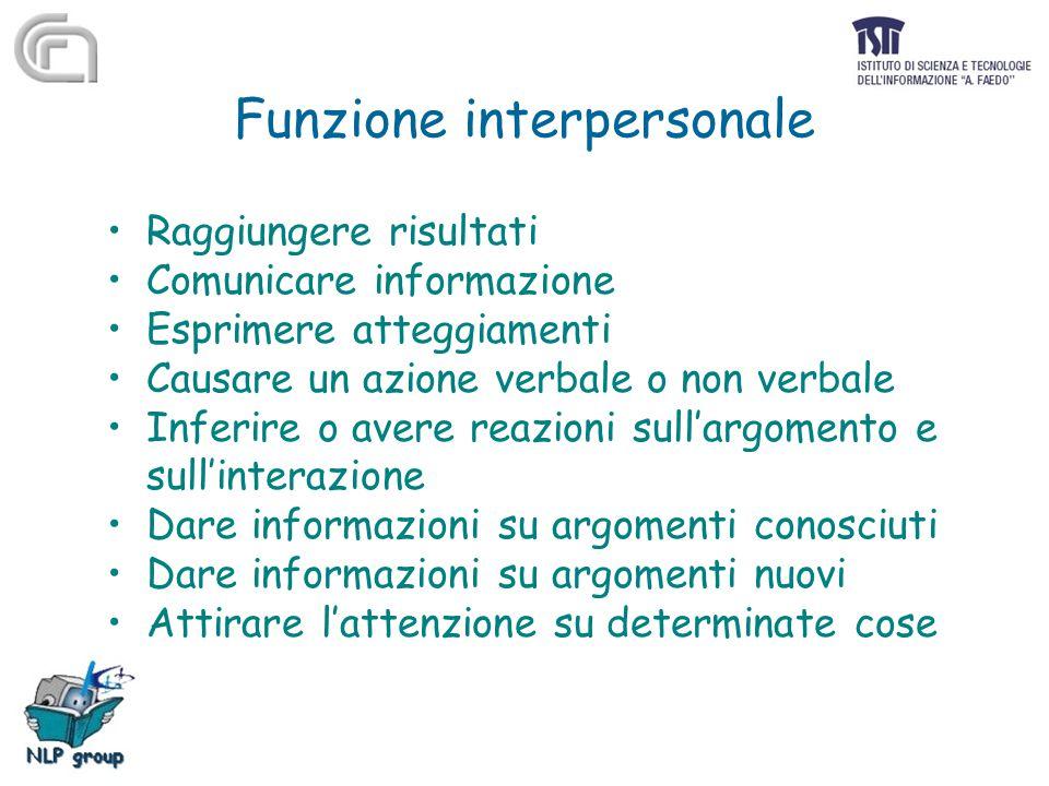 Funzione interpersonale