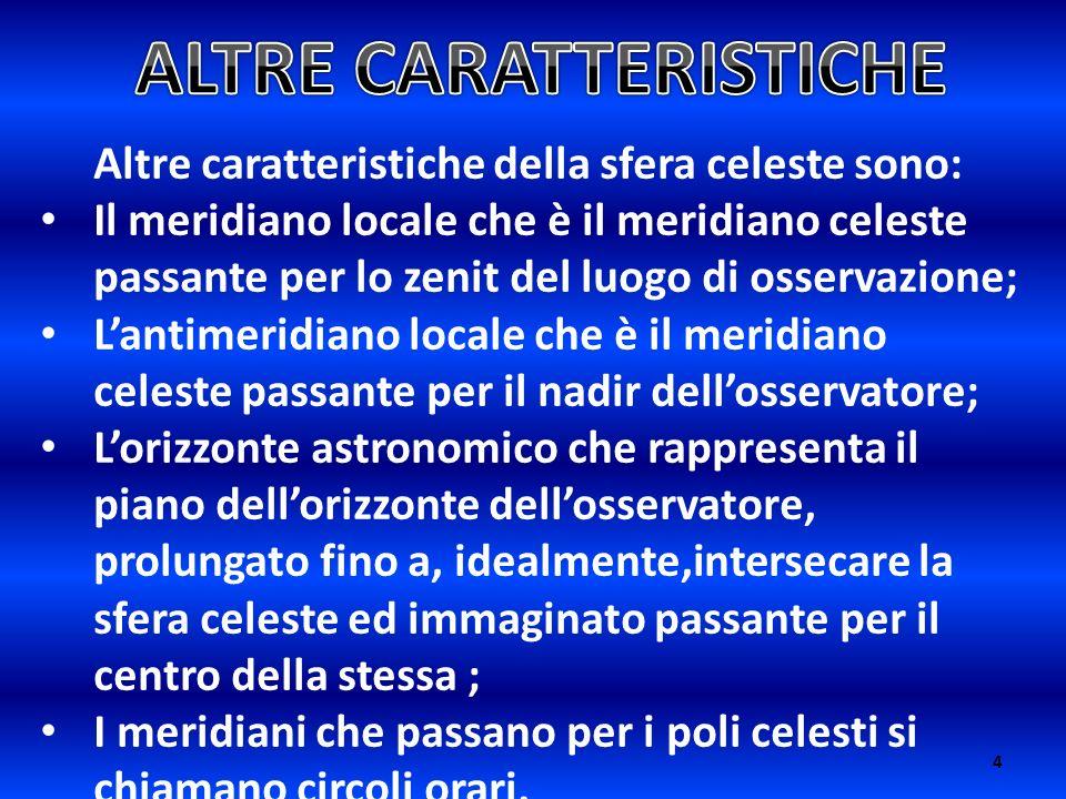 ALTRE CARATTERISTICHE