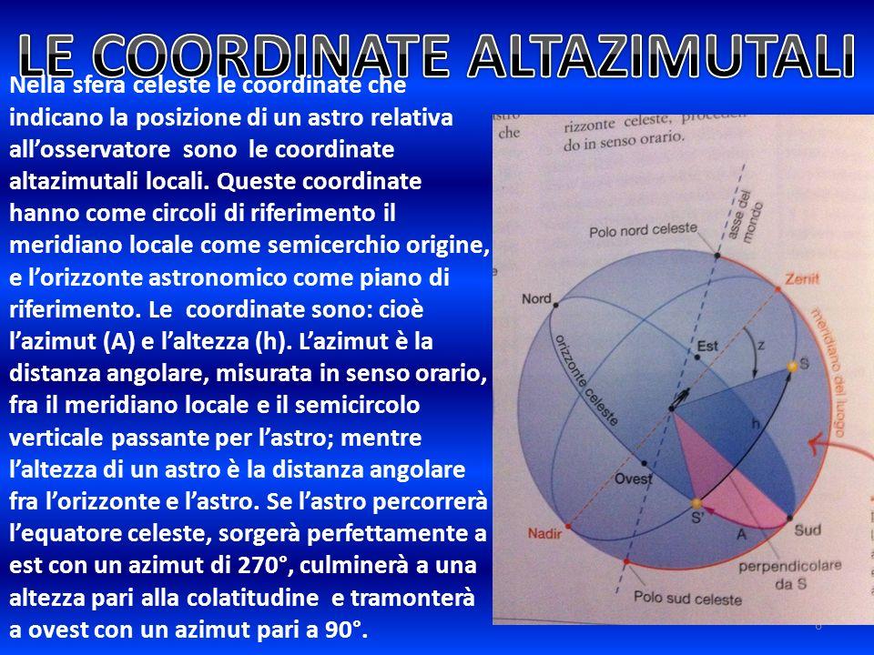 LE COORDINATE ALTAZIMUTALI