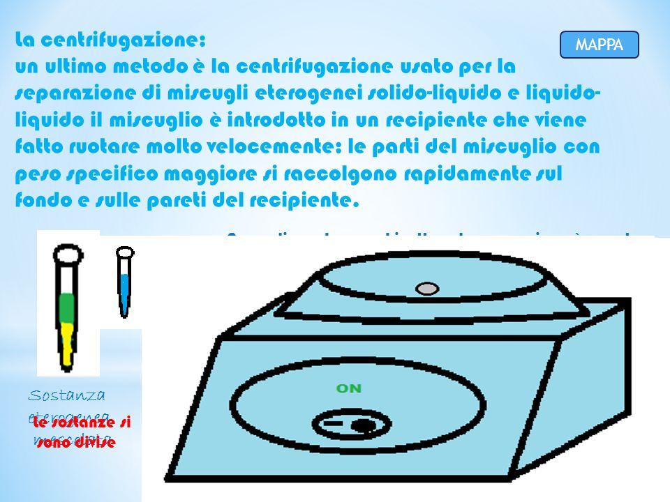 La centrifugazione: