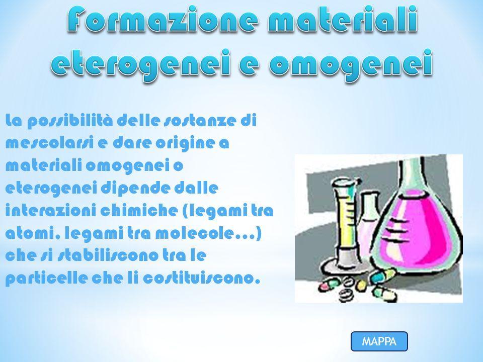 Formazione materiali eterogenei e omogenei