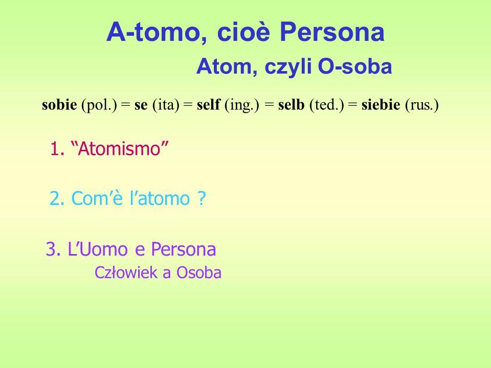 A-tomo, cioè Persona Atom, czyli O-soba