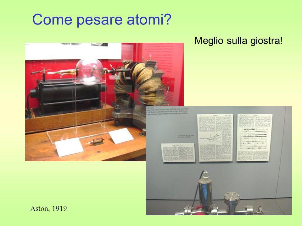 Come pesare atomi Meglio sulla giostra! Aston, 1919