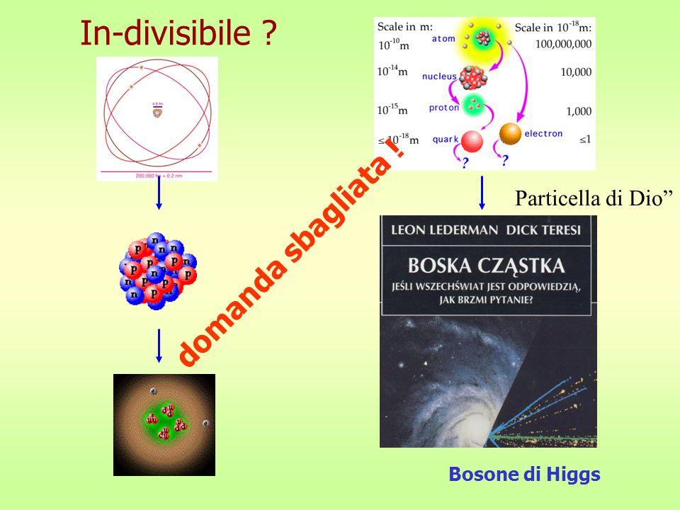 In-divisibile Particella di Dio domanda sbagliata ! Bosone di Higgs