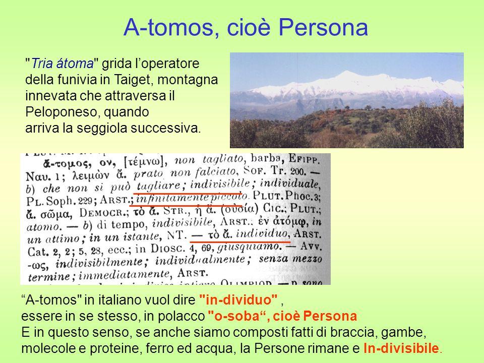 A-tomos, cioè Persona Tria átoma grida l'operatore
