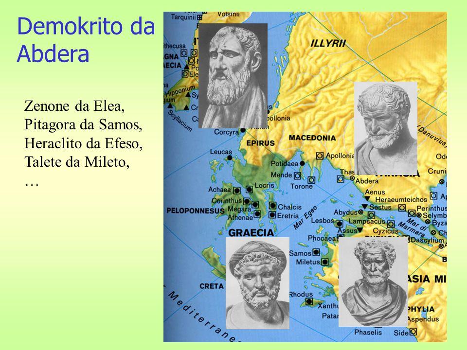 Demokrito da Abdera Zenone da Elea, Pitagora da Samos,