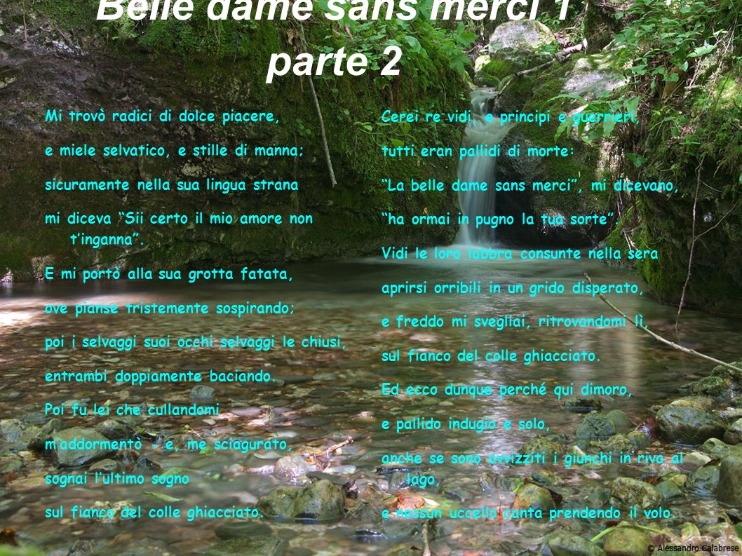 Belle dame sans merci 1 parte 2