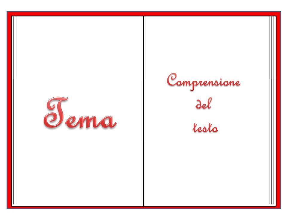 Comprensione del testo L'amore Felice Tema
