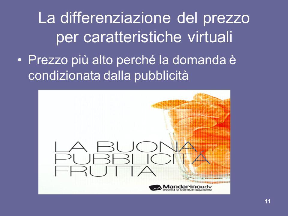 La differenziazione del prezzo per caratteristiche virtuali