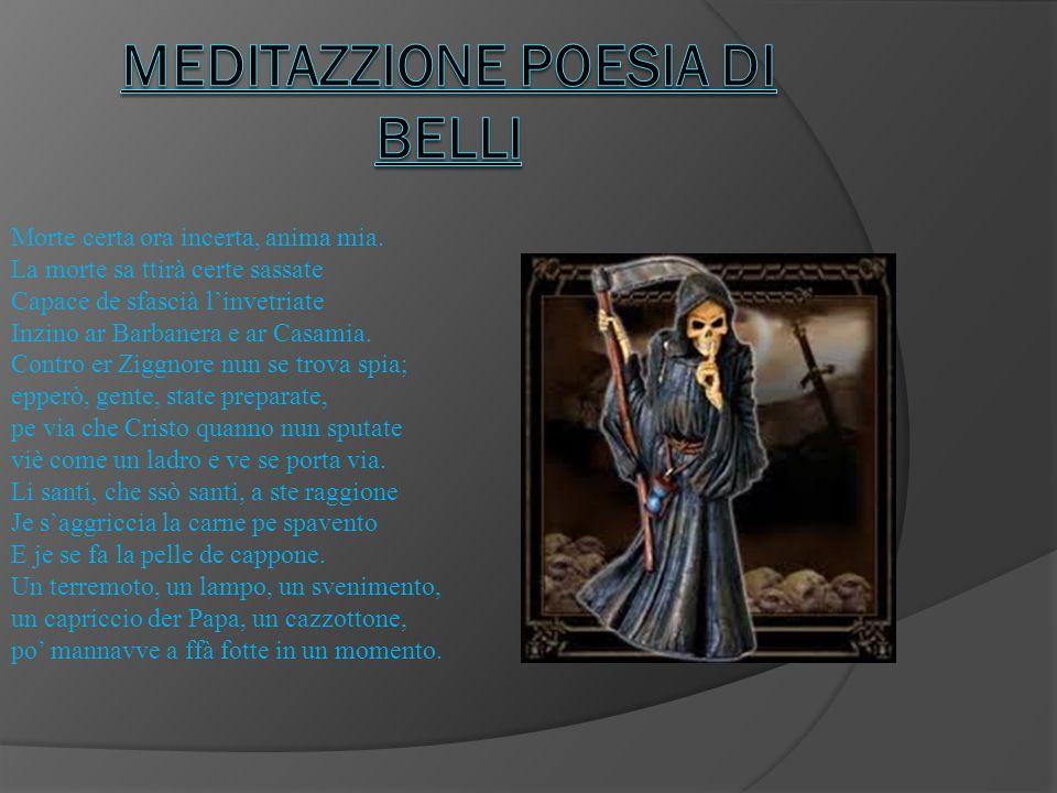 Meditazzione Poesia di belli