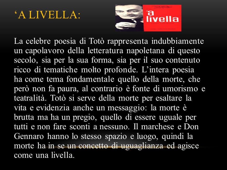 'A LIVELLA: