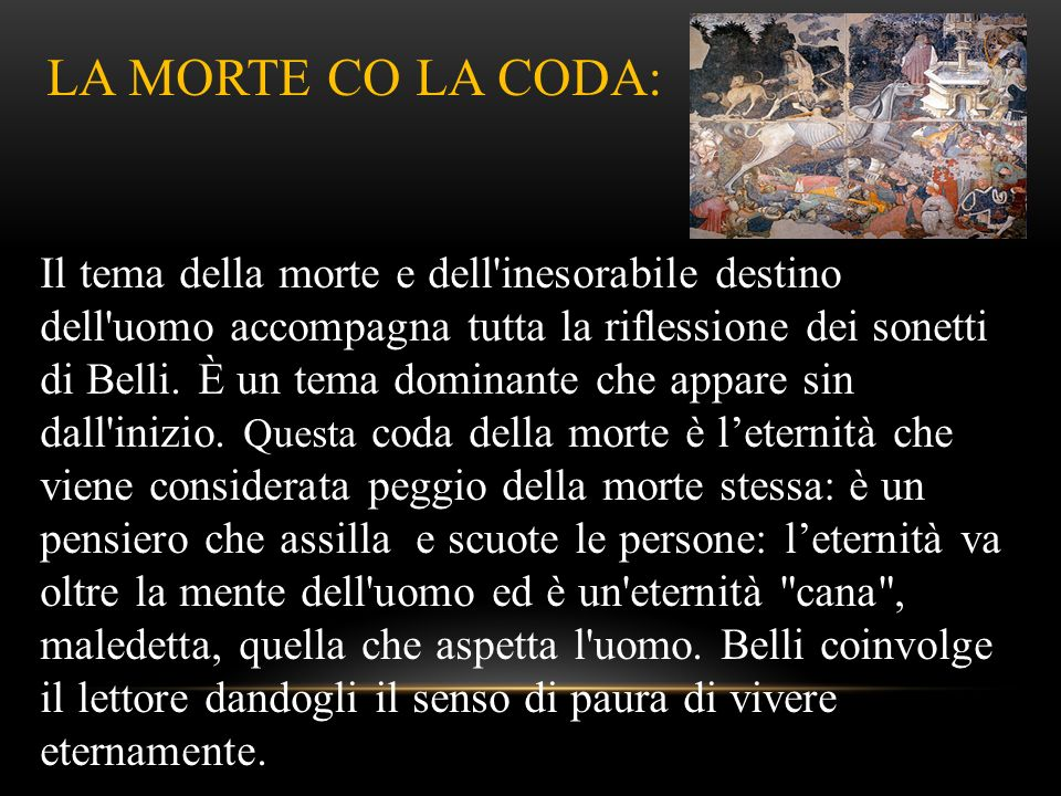 LA MORTE CO LA CODA: