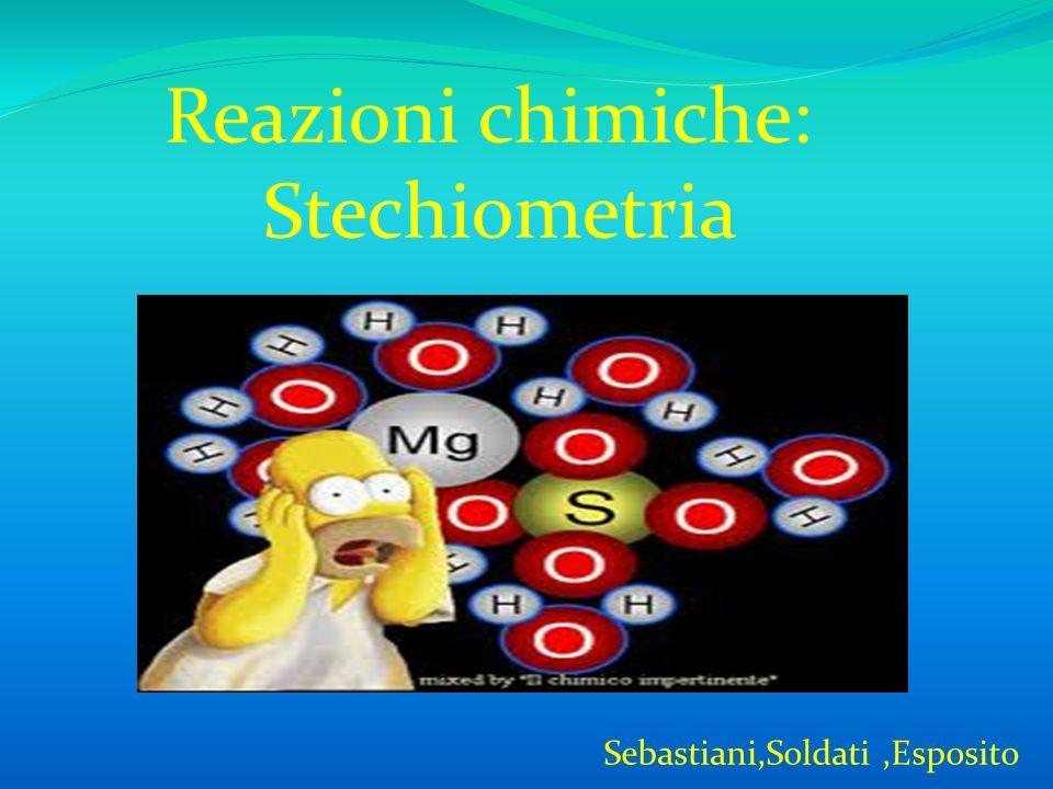 Reazioni chimiche: Stechiometria Sebastiani,Soldati ,Esposito