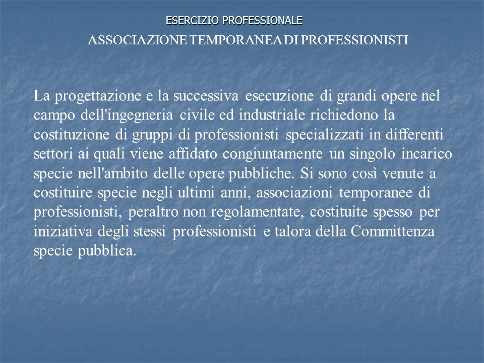 ESERCIZIO PROFESSIONALE