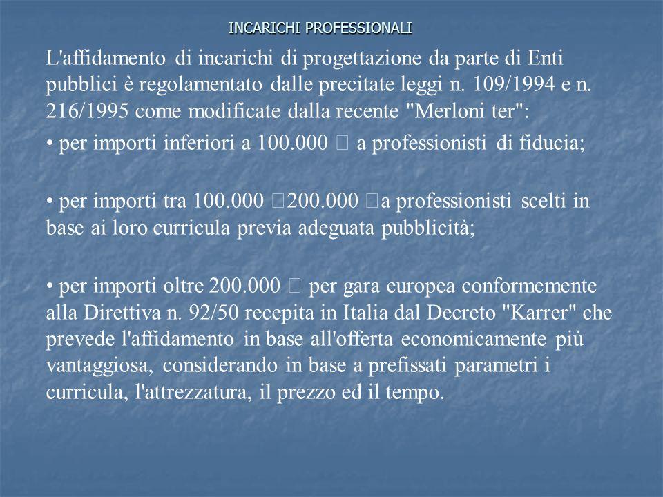 INCARICHI PROFESSIONALI