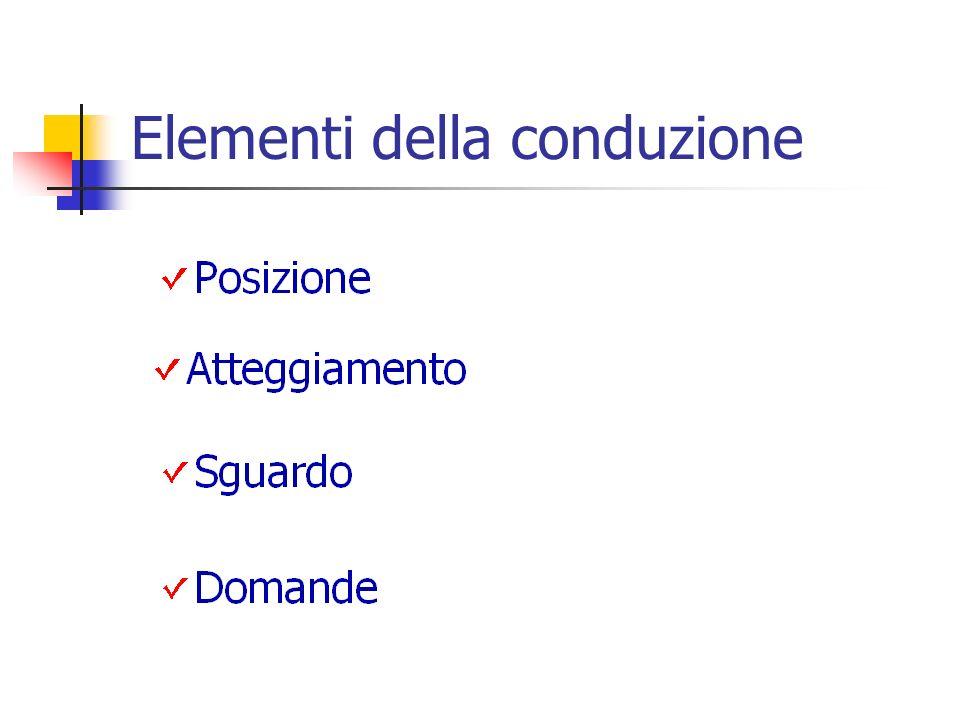 Elementi della conduzione