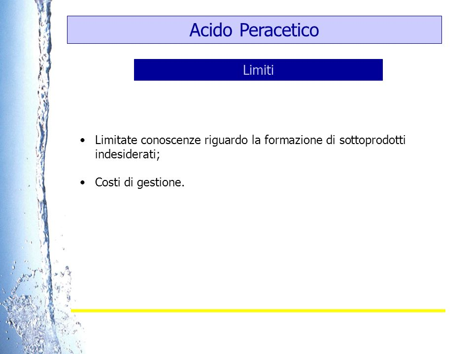 Acido Peracetico Limiti