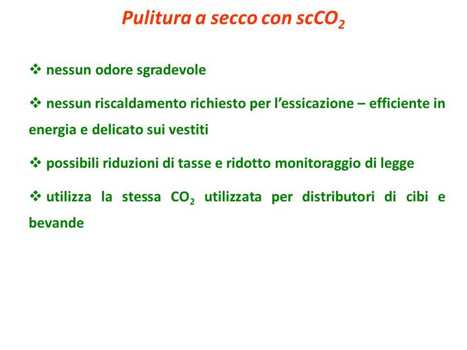 Pulitura a secco con scCO2