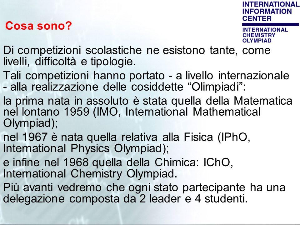 Cosa sono Di competizioni scolastiche ne esistono tante, come livelli, difficoltà e tipologie.