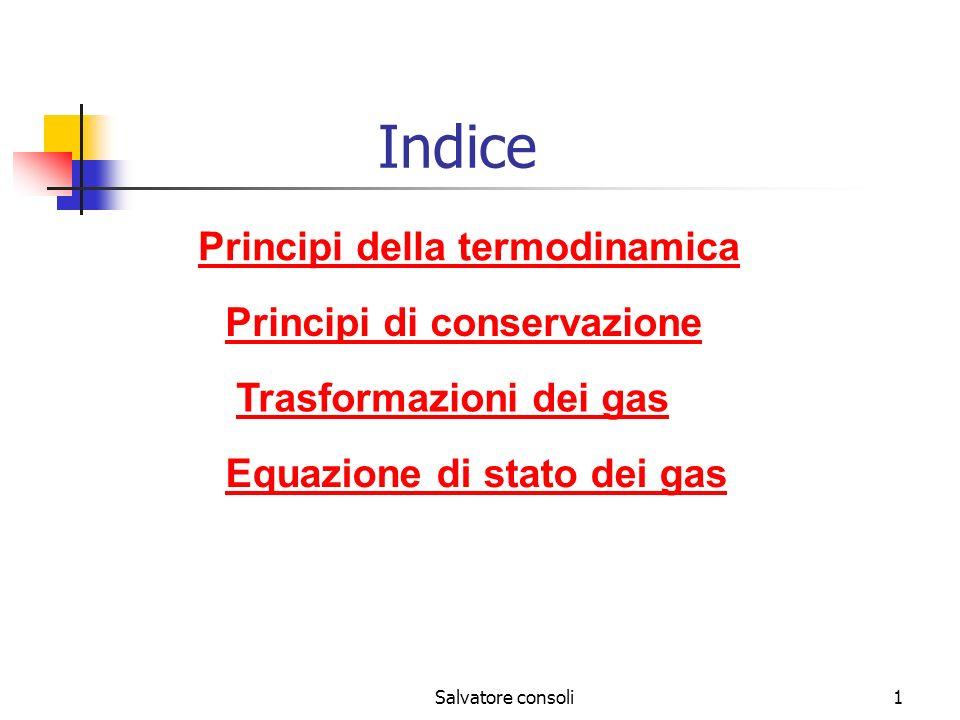 Indice Principi della termodinamica Principi di conservazione