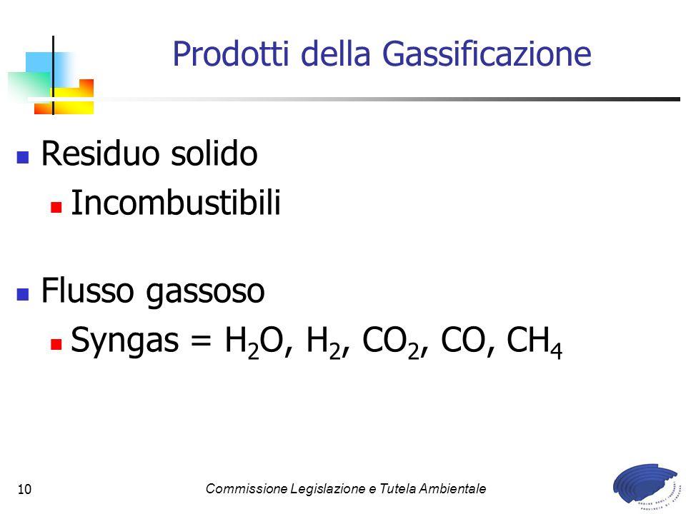 Prodotti della Gassificazione