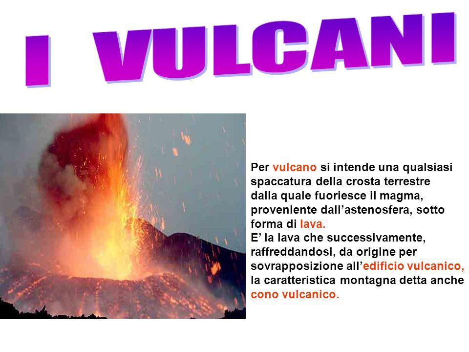 I VULCANI Per vulcano si intende una qualsiasi