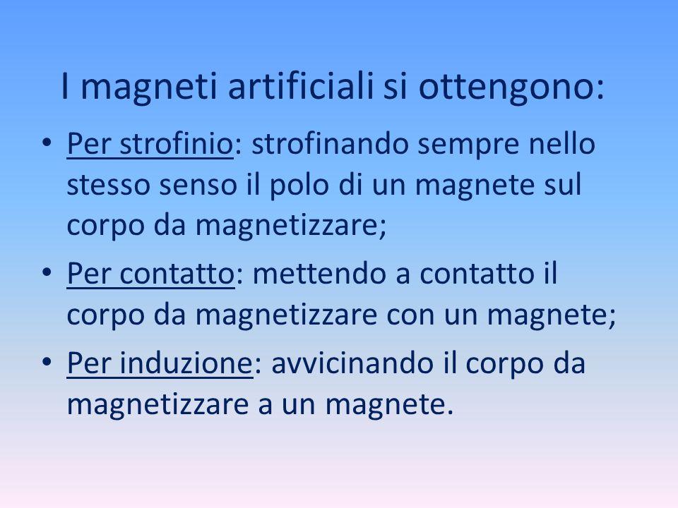 I magneti artificiali si ottengono: