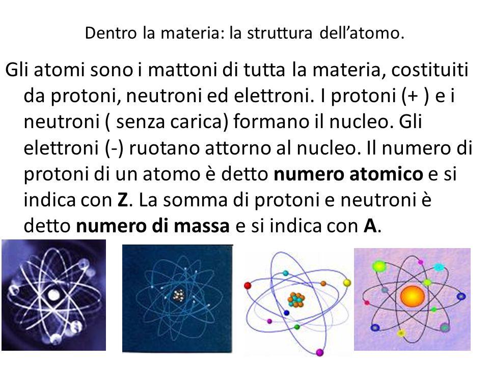 Dentro la materia: la struttura dell'atomo.