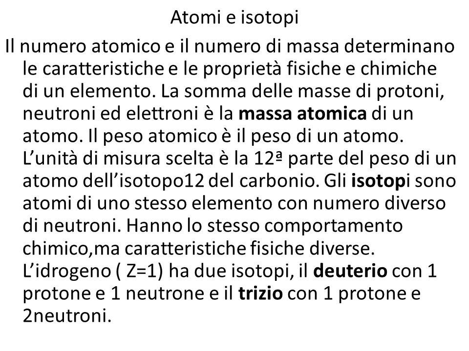 Atomi e isotopi
