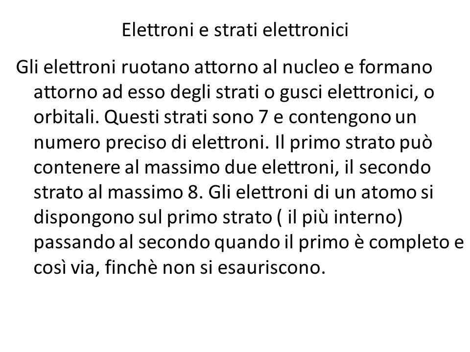 Elettroni e strati elettronici