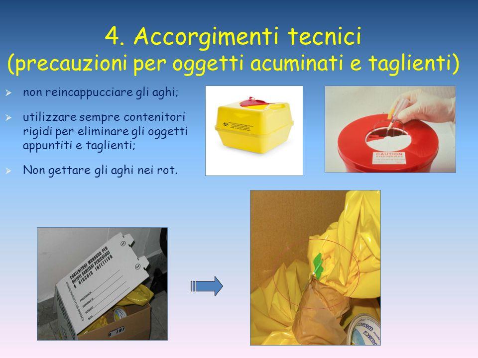 (precauzioni per oggetti acuminati e taglienti)