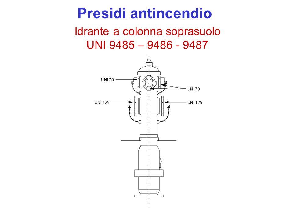 Idrante a colonna soprasuolo UNI 9485 – 9486 - 9487