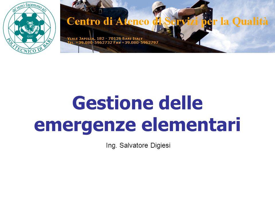Gestione delle emergenze elementari